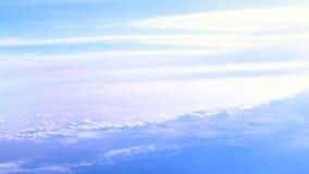 Ηλιόλουστο υπόβαθρο ηλιοβασιλέματος ουρανού απόθεμα βίντεο