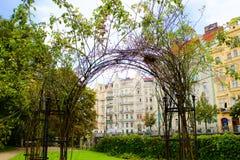 Ηλιόλουστο φθινόπωρο της Νίκαιας στην Πράγα Στοκ φωτογραφίες με δικαίωμα ελεύθερης χρήσης