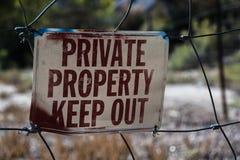 Η ιδιωτική ιδιοκτησία, κρατά έξω Στοκ Εικόνες