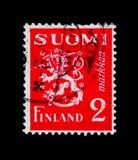 Η κάλυψη των όπλων, διαμορφώνει το λιοντάρι του 1930 serie, circa το 1950 Στοκ Εικόνες