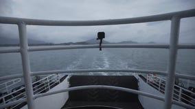 Η κάμερα στο σκάφος timelapse actioncam ταξιδεύει, θάλασσα, ευτυχής, ωκεάνια, CCTV, ασφάλεια, επιτήρηση απόθεμα βίντεο