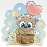 Η κάρτα γενεθλίων με ένα χαριτωμένο Teddy αντέχει ελεύθερη απεικόνιση δικαιώματος