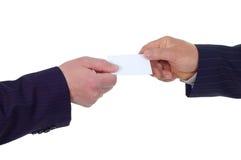 η κάρτα επιχειρηματιών δίνε στοκ εικόνες με δικαίωμα ελεύθερης χρήσης