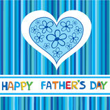 Η κάρτα ημέρας ενός ευτυχούς πατέρα. Στοκ Εικόνες