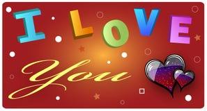 η κάρτα ι σας αγαπά Στοκ Εικόνα