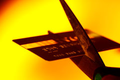 η κάρτα μειώθηκε Στοκ φωτογραφίες με δικαίωμα ελεύθερης χρήσης