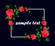 Η κάρτα με τα λουλούδια, watercolor, μπορεί να χρησιμοποιηθεί ως κάρτα πρόσκλησης για το γάμο, τα γενέθλια και άλλα διακοπές και  ελεύθερη απεικόνιση δικαιώματος