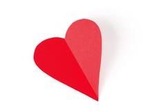 Η κάρτα συνδεδεμένο διάνυσμα βαλεντίνων απεικόνισης s δύο καρδιών ημέρας Στοκ Εικόνες