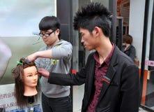 η Κίνα έκοψε το μαθαίνοντα&s Στοκ Εικόνες