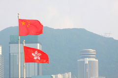 η Κίνα σημαιοστολίζει το Στοκ Φωτογραφία