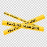 Η κίτρινη γραμμή αστυνομίας δεν διασχίζει διανυσματική απεικόνιση