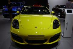Η κίτρινη Porsche boxster στοκ φωτογραφίες με δικαίωμα ελεύθερης χρήσης