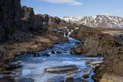 Η κακόφημη πνίγοντας λίμνη στην Ισλανδία Στοκ Εικόνα