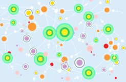 Η καλή δυναμική χρώματος κάμπτει τις γραμμές με την ορμώ-γραμμή διασκέδασης και το χρώμα σημείων ελεύθερη απεικόνιση δικαιώματος