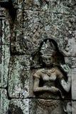 Η ΚΑΜΠΟΤΖΗ SIEM ΣΥΓΚΕΝΤΡΏΝΕΙ ΤΟ ΝΑΌ ANGKOR TA PROHM Στοκ φωτογραφία με δικαίωμα ελεύθερης χρήσης
