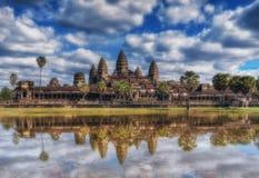 η Καμπότζη συγκεντρώνει siem Ναός Wat Angkor Στοκ Φωτογραφία