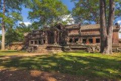 η Καμπότζη συγκεντρώνει siem Ο ναός σύνθετος Angkor Wat, τα αρχαία κτήρια Στοκ Φωτογραφία