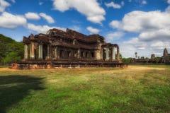 η Καμπότζη συγκεντρώνει siem Ο ναός Angkor Wat βιβλιοθήκη Στοκ φωτογραφίες με δικαίωμα ελεύθερης χρήσης