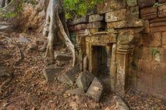 η Καμπότζη συγκεντρώνει siem Angkor Thom Αρχαία Khmer προ αρχιτεκτονική Angkor Στοκ Εικόνες