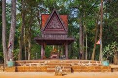 η Καμπότζη συγκεντρώνει siem Angkor Thom bayon ναός της Καμπότζης riep πλησίον siem Βουδιστικό πεζούλι Στοκ φωτογραφίες με δικαίωμα ελεύθερης χρήσης