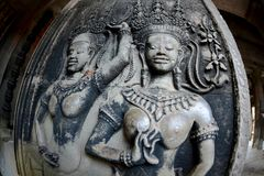 Η Καμπότζη Siem συγκεντρώνει το ναό Angkor Wat Στοκ Φωτογραφίες