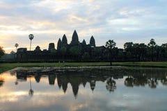 Η Καμπότζη Siem συγκεντρώνει το ναό Angkor Wat Στοκ Εικόνες
