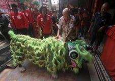 Η ΚΑΠ πηγαίνει Meh σε Klenteng Tien Kho Sie Pasar gede Στοκ εικόνες με δικαίωμα ελεύθερης χρήσης