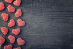 η καραμέλα έχει τις καρδιές εγώ ένα κείμενο sms αυτοί Στοκ Εικόνες