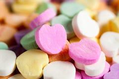 η καραμέλα έχει τις καρδιές εγώ ένα κείμενο sms αυτοί Στοκ Φωτογραφίες