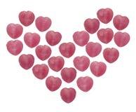 η καραμέλα έχει τις καρδιές εγώ ένα κείμενο sms αυτοί Στοκ φωτογραφίες με δικαίωμα ελεύθερης χρήσης