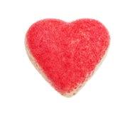 Η καραμέλα από την άσπρη σοκολάτα υπό μορφή καρδιάς Στοκ Φωτογραφία