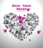η καρδιά ανοίγει το σας Στοκ φωτογραφίες με δικαίωμα ελεύθερης χρήσης