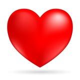 η καρδιά απομόνωσε το λευκό Στοκ Εικόνα