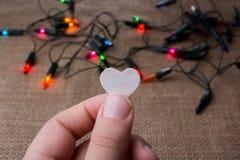 Η καρδιά διαμόρφωσε το ξύλινο αντικείμενο στοκ φωτογραφία με δικαίωμα ελεύθερης χρήσης