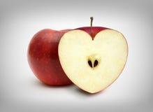 Η καρδιά μήλων Στοκ φωτογραφία με δικαίωμα ελεύθερης χρήσης