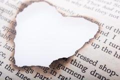 Η καρδιά που διαμορφώθηκε το έγγραφο που καηκε από Στοκ εικόνα με δικαίωμα ελεύθερης χρήσης