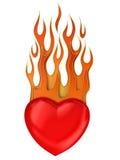 η καρδιά πυρκαγιάς απομόν&omega Στοκ φωτογραφίες με δικαίωμα ελεύθερης χρήσης