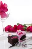 η καρδιά σοκολάτας αυξήθηκε μορφή Στοκ εικόνες με δικαίωμα ελεύθερης χρήσης