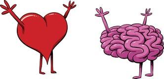 Η καρδιά συναντά το μυαλό Στοκ φωτογραφίες με δικαίωμα ελεύθερης χρήσης