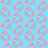 Η καρδιά το άνευ ραφής σχέδιο Στοκ Εικόνες