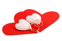 η καρδιά χτυπά το γάμο Στοκ Εικόνες