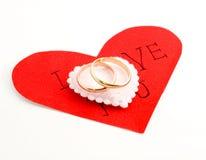 η καρδιά χτυπά το γάμο Στοκ Φωτογραφίες