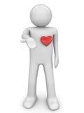 η καρδιά 3 μου παίρνει Στοκ φωτογραφίες με δικαίωμα ελεύθερης χρήσης