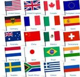 Η καρφίτσα σημαιοστολίζει δημοφιλή Στοκ Φωτογραφία