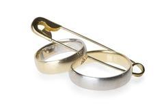 η καρφίτσα χτυπά το γάμο ασφάλειας Στοκ εικόνες με δικαίωμα ελεύθερης χρήσης