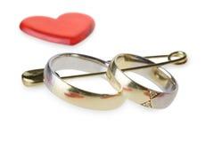 η καρφίτσα χτυπά το γάμο ασφάλειας Στοκ Εικόνες