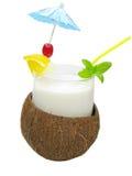 η καρύδα κοκτέιλ πίνει το χυμό καρπού Στοκ φωτογραφία με δικαίωμα ελεύθερης χρήσης