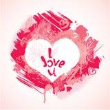Η καρδιά αποτελείται από τα κτυπήματα και τους λεκέδες βουρτσών Στοκ Φωτογραφίες