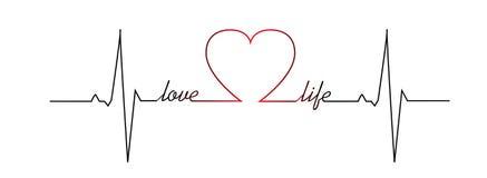 Η καρδιά ζωής αγάπης κτύπησε διανυσματική απεικόνιση
