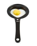 Η καρδιά διαμόρφωσε το ανακατωμένο αυγό Στοκ Εικόνες
